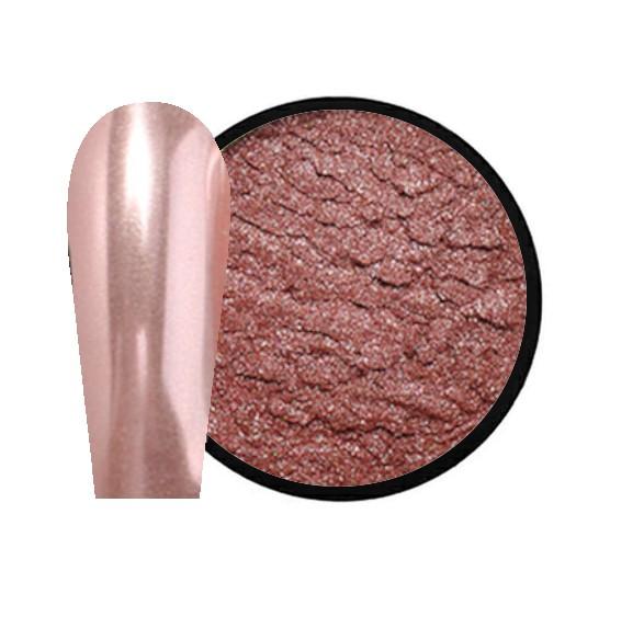JUSTNAILS Mirror-Glow Nagel Pigment - Candy Peach