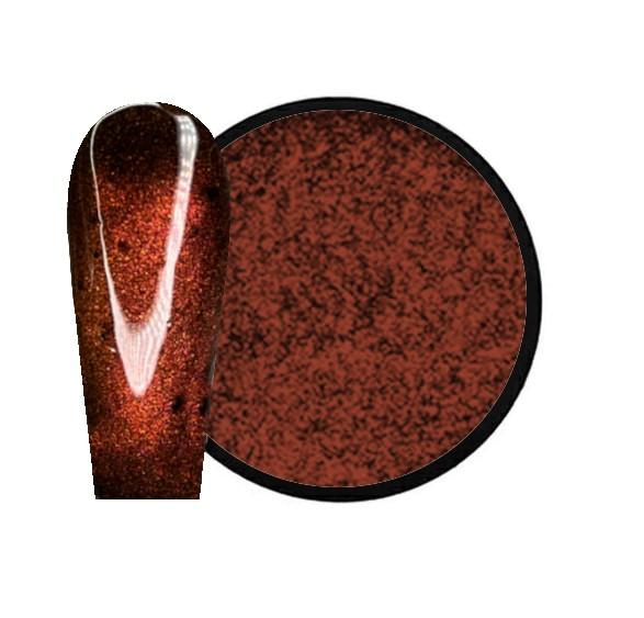 JUSTNAILS Mirror-Glow 3D Cat Eye Nagel Pigment - Brown Sugar