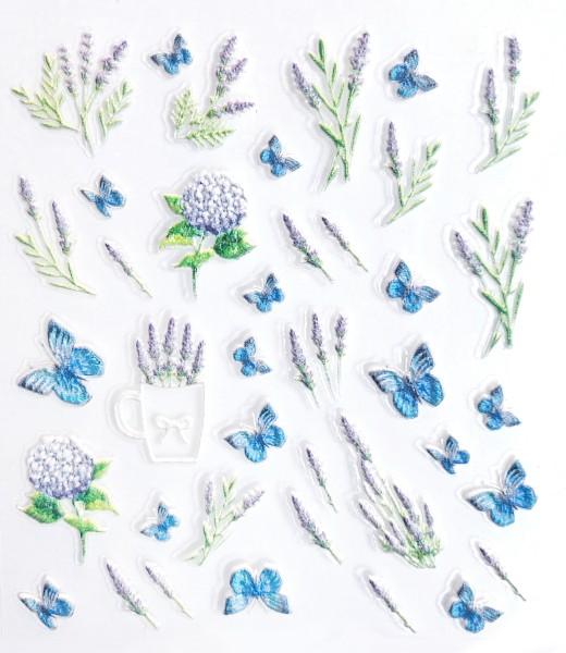 5D Sticker selbstklebend Lavendel Schmetterling