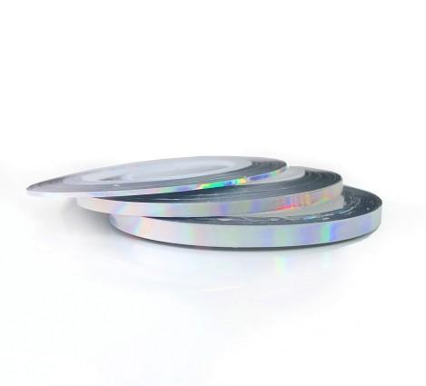 Irisierende Stripes silver Set