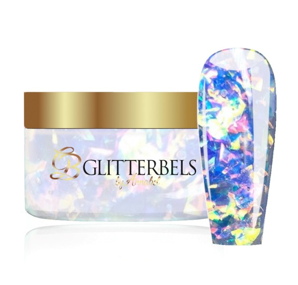GLITTERBELS SEA FOAM FLAKE