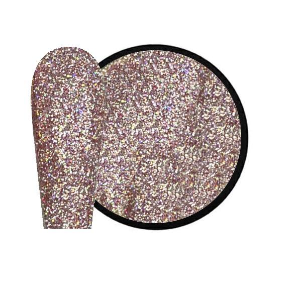 JUSTNAILS New Flash Glitter 03 - rose