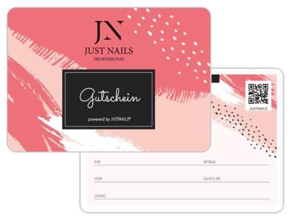 JUSTNAILS 5x gift voucher Studio 02 pink