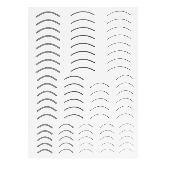 Flexible Stripes rund Set silber