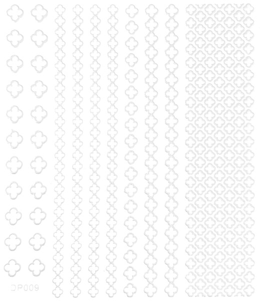 selbstklebende Sticker weiß 009