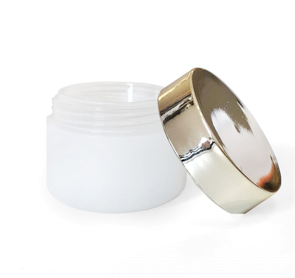 JUSTNAILS 5ml jar double walled frosted gel with champagne lid