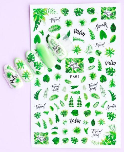 Sticker selbstklebend Leaves Palm Blätter