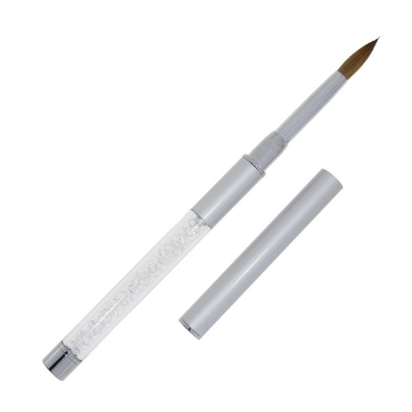 Premium Kolinsky Acryl Pinsel silber- Gr.8 02