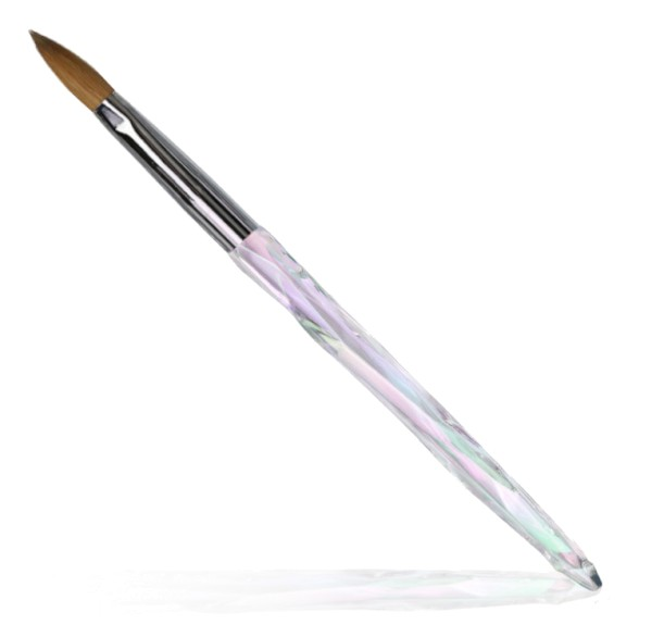Premium Kolinsky acrylic brush pink - size 10 01