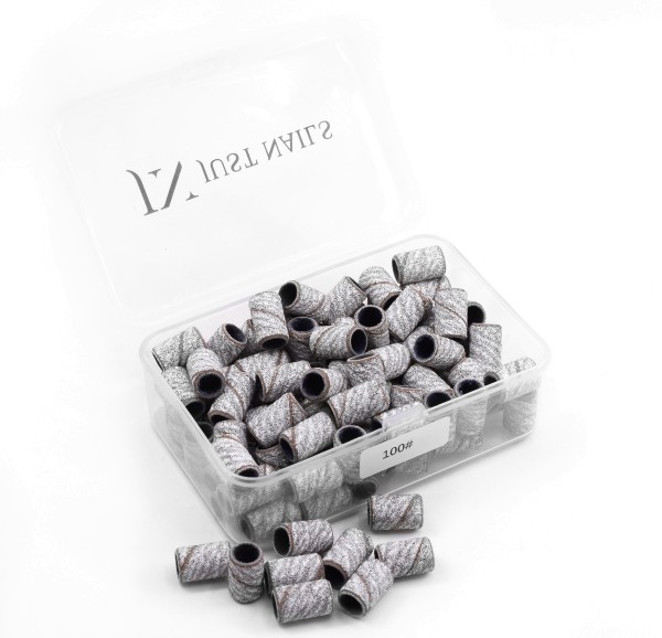JUSTNAILS Premium Zebra Grinding Caps in Box 100 pcs.