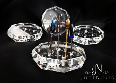 Fräserbit Halter aus Glaskristall in Diamantoptik