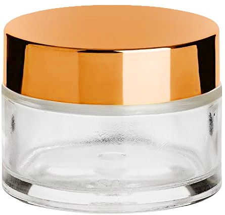 JUSTNAILS Dappen Dish for acrylic liquid, powder etc. with lid metallic look