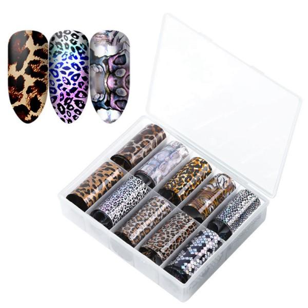 JUSTNAILS Transfer Foils Box Animal Leopard Pattern Set - 2
