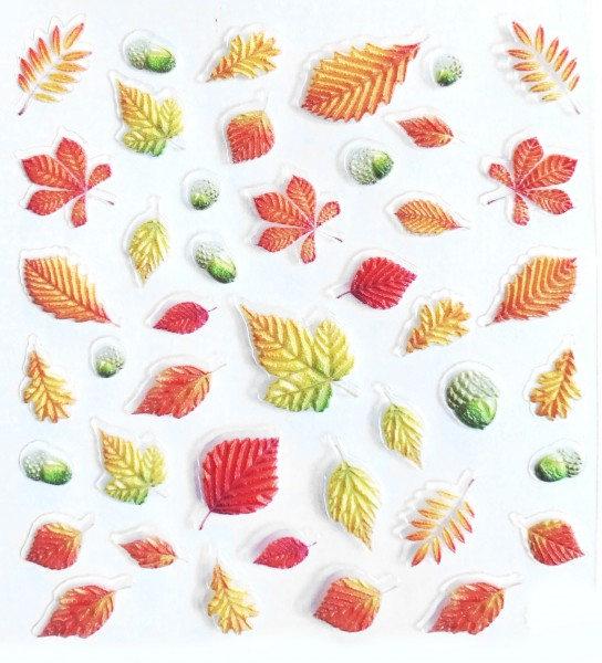 JUSTNAILS 5D stickers self-adhesive autumn leaves 2