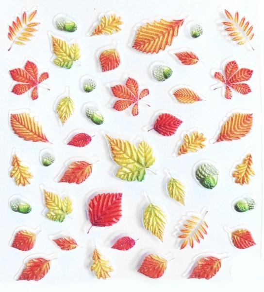 5D Sticker selbstklebend Herbst Blätter 2